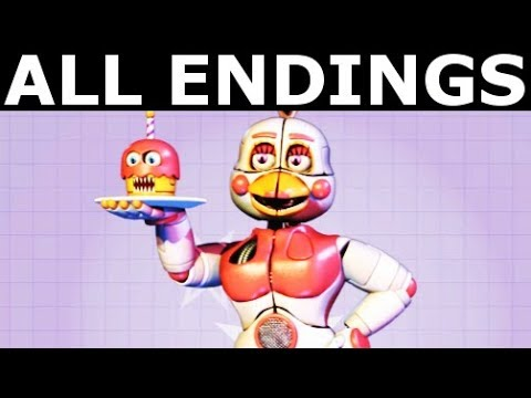 FNAF 6 - ALL ENDINGS - Freddy Fazbear's Pizzeria Simulator All Possible Ending Outcomes