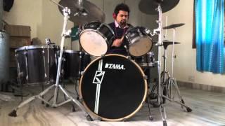 bikhra hoon main jal drum cover