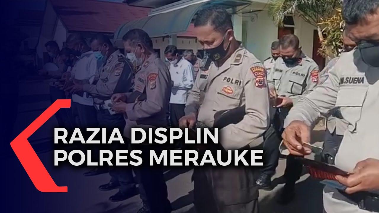 Razia Disiplin 15 Anggota Polres Terjaring