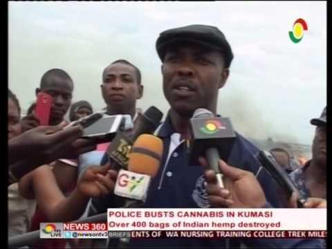 News360 - Police destroys 400 bags of indian hemp in  kumasi -7/5/2016