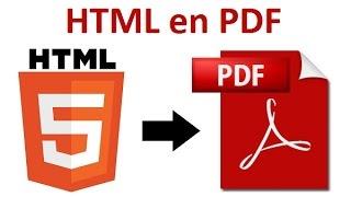 Comment convertir HTML en PDF en ligne