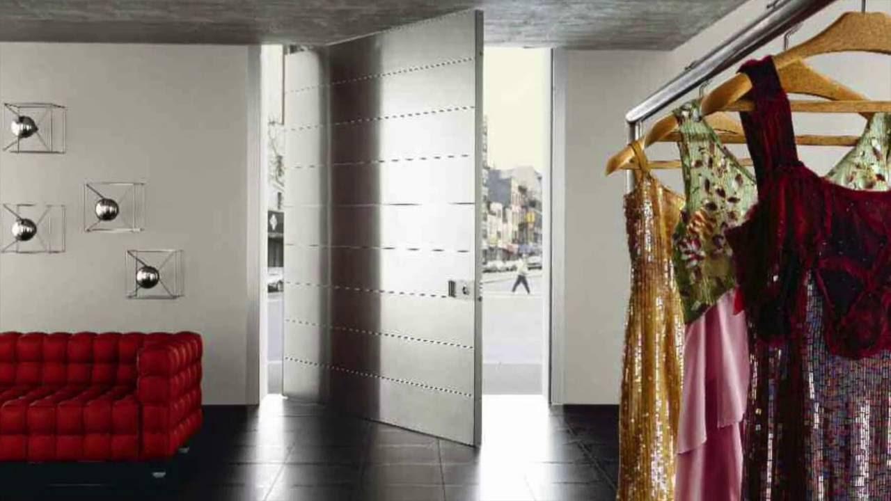 puertas pivotantes de entrada ejemplos de diseo y decoracin