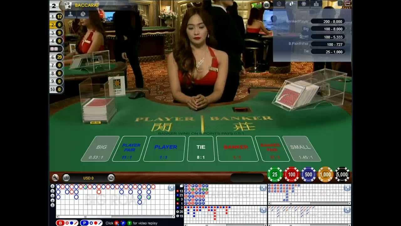 Live Dealer Baccarat Online Casino