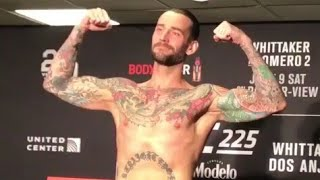 UFC 225 | CM Punk weight in Chicago |