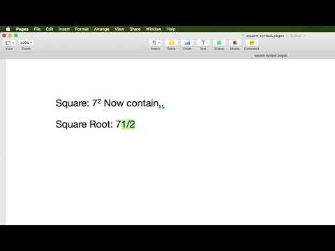 How To Use Square Symbol Om Mac Pages Mail Youtube