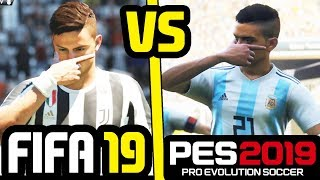 FIFA 19 vs PES 2019 NEW GAMEPLAY FEATURES