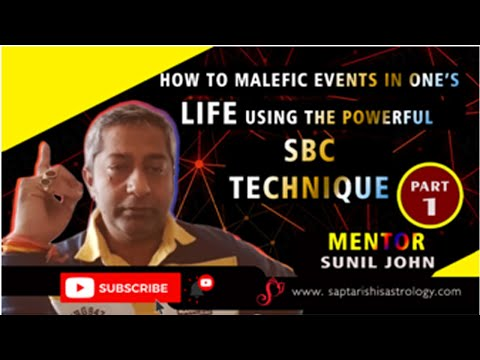 Part 1 - How to time Malefic Events in one's life using the Powerful SBC Technique