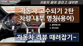 자동차 전문가되기 2탄. 차량 내부 용어와 정확한 표현…