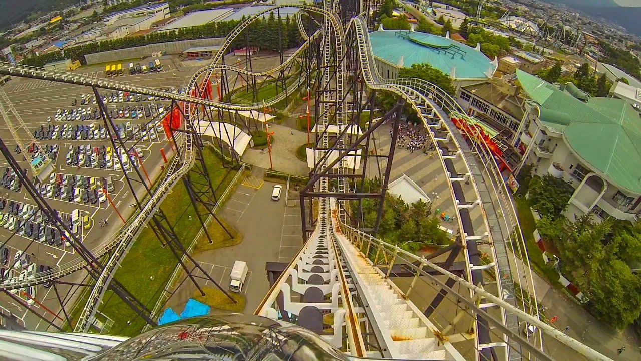 "Fujiyama - ""The King of Roller Coasters!"" Front Seat POV - Fuji-Q Highland Japan"