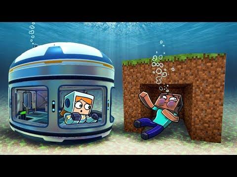 Minecraft | UNDERWATER BASE DEFENSE - Real Shark Attack! (Base Challenge)