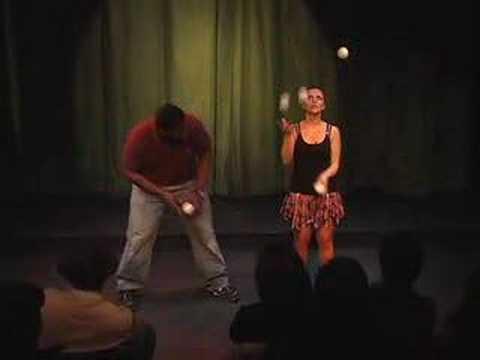 Comedy/Juggling show highlights FEMALE JUGGLER