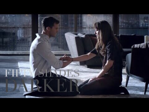 Download Fifty Shades Darker - Christian Kneels Before Ana and Let's Her Touch Him