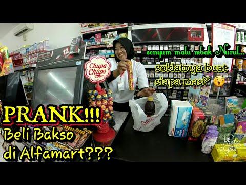 PRANK!!! Bawa MANGKOK ke ALFAMART?? || mbaknya malu-malu || yunius motovlog dari Rembang