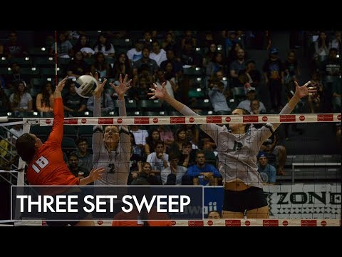 Rainbow Wahine Sweeps Cal State Fullerton in Three Sets