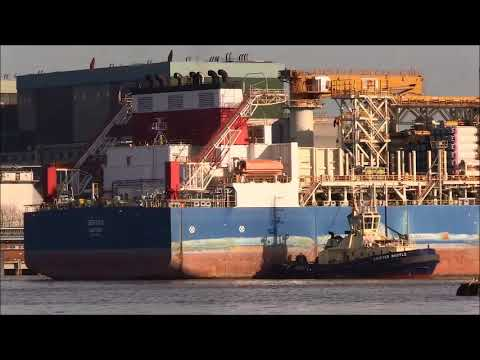 SERTAO, Drill Ship & UNION LYNX Support Ship...30/01/2018. Thames Shipping by R.A.S.