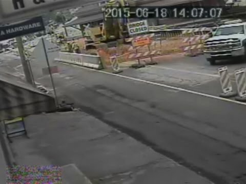 Raw: Penn. Bridge Collapse Caught on Camera
