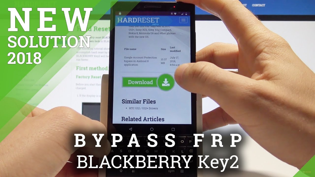 Blackberry Keyone FRP solutions - GSM-Forum
