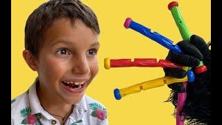 Stefan Pretend Play with Superheroys | 동요와 아이 노래 | 어린이 교육 | Gorilla kids
