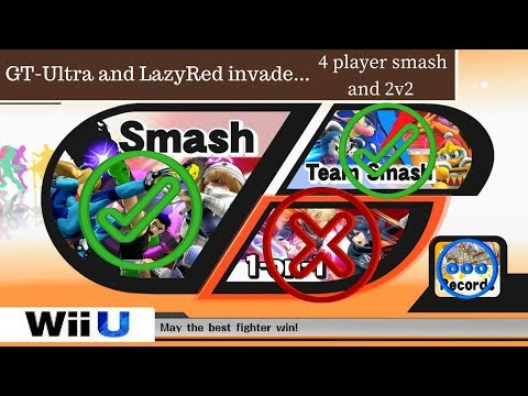 [SSB4] Meh and LazyRed invade 4 player & 2v2 online