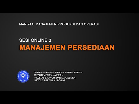 MPO SESI 3| MANAJEMEN PERSEDIAAN