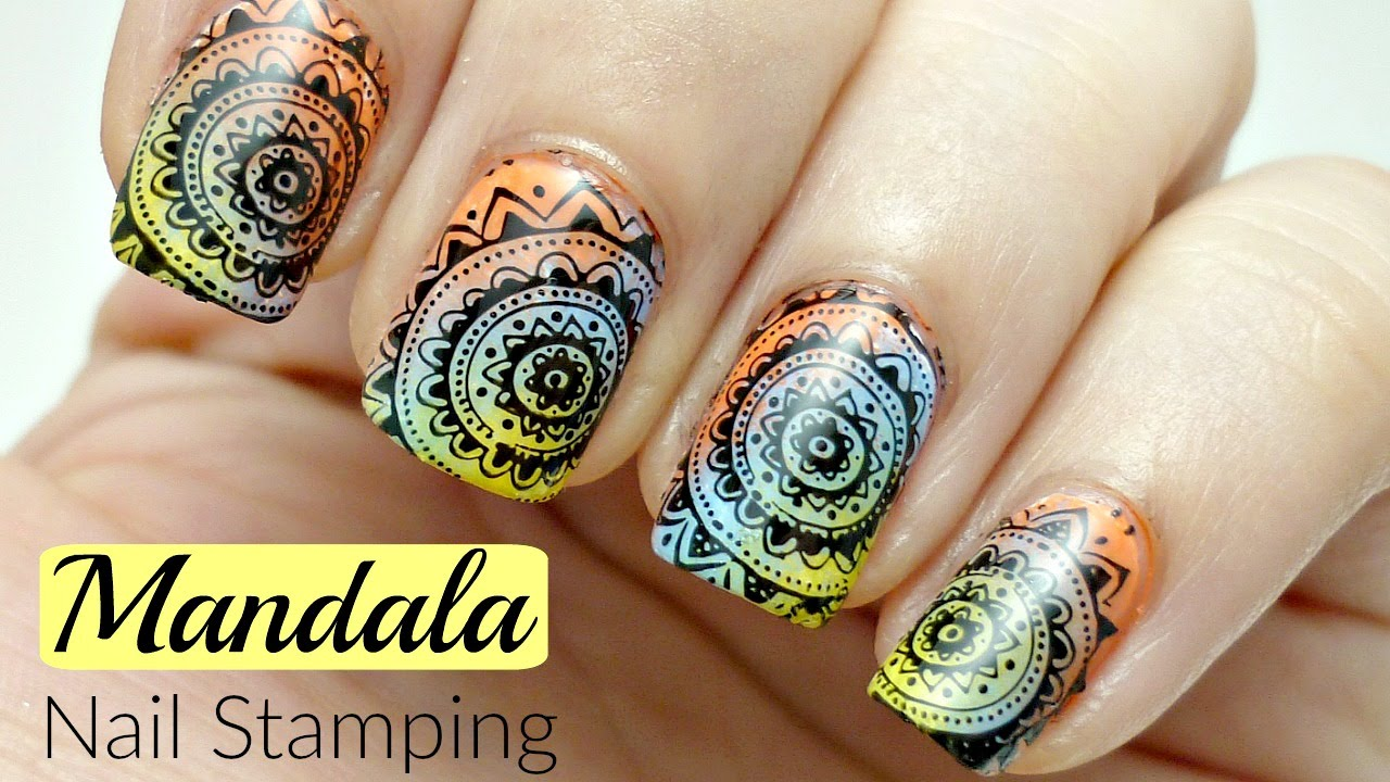 Mandala Ombre Nail Art! *Stamping Tutorial* - YouTube