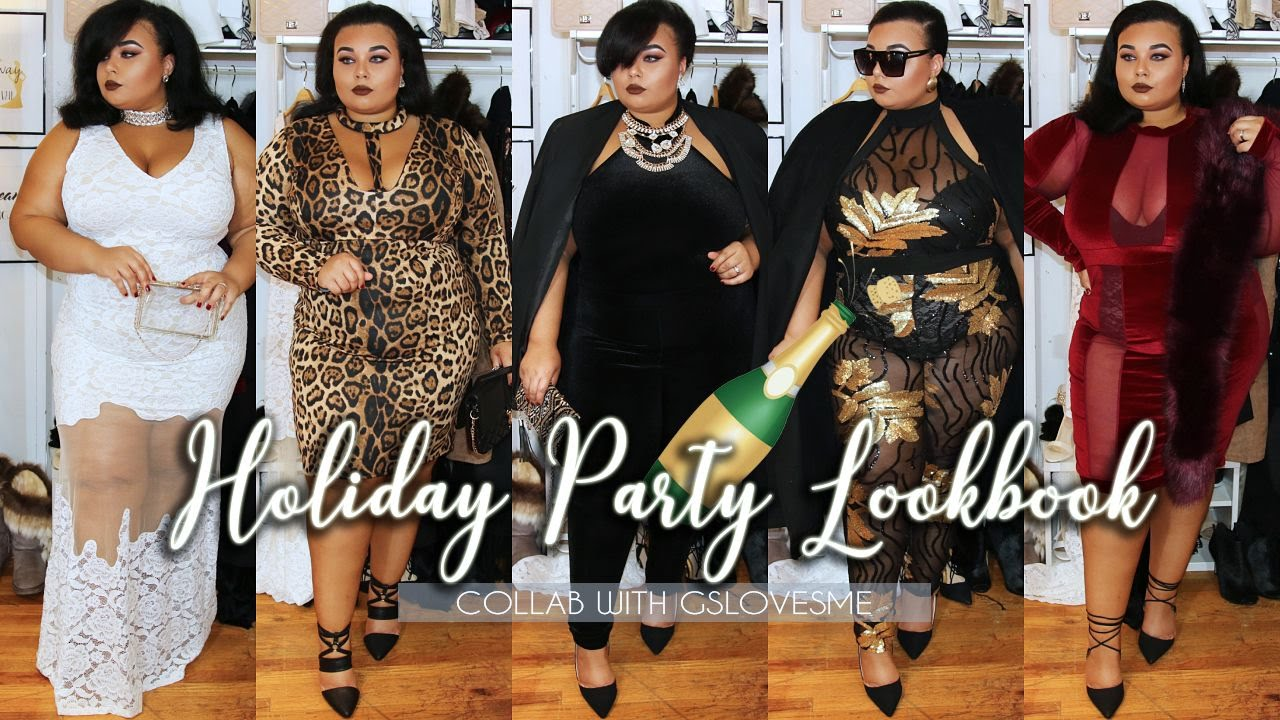 2016 PLUS SIZE HOLIDAY PARTY FASHION LOOKBOOK WITH GS LOVE - YouTube