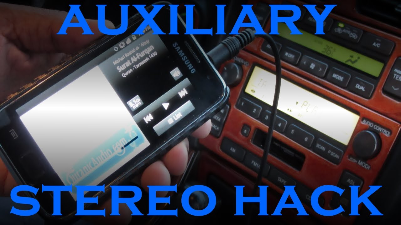 How to Add AUX to an Old Car Stereo for $2  YouTube