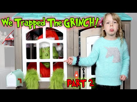We Trapped The GRINCH In The Playhouse! The Grinch Stole My PB And J Christmas Part 2!