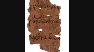 Ancient Greek Music - Papyrus MS. Schoyen 2260 ( fragment of tragedy (?), ca. 300 AD)