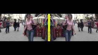 Mirror method 3D movie - Passers-by 01