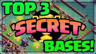 TOP 3 'SECRET' Bases EXPOSED! Clash of Clans Strategy - Win Trophies - Episode #1