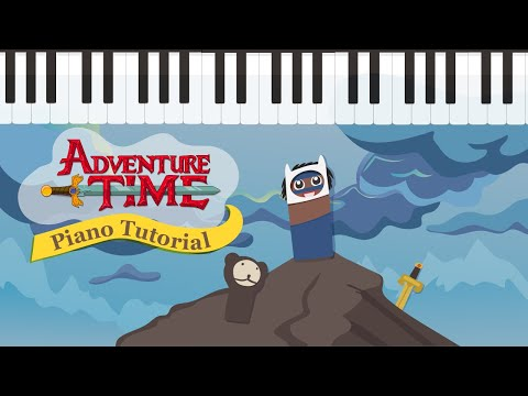 How to Play Adventure Time  on the Piano - Easy Tutorial - Hoffman Academy