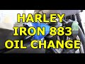 Harley Davidson Iron 883 Sportster - Easy DIY Oil Change