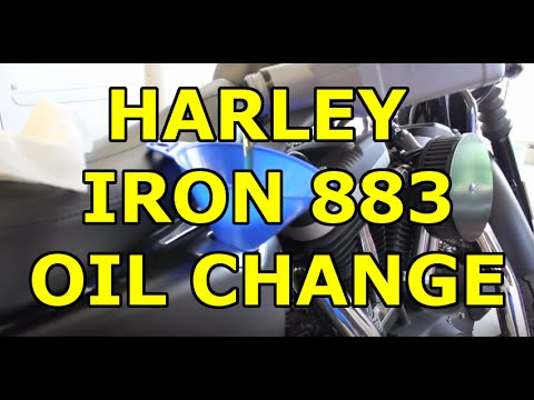 Oil Drain Plug >> Harley Davidson Iron 883 Sportster - Easy DIY Oil Change ...