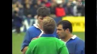 Fabien Pelous foul play vs New Zealand 1999