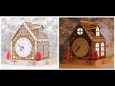 Gingerbread House Clock Assembly