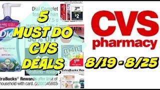 5 MUST DO CVS DEALS 8/19 - 8/25 | Hot Makeup, Toothpaste, Facial Care Deals!