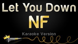 nf let you down karaoke version