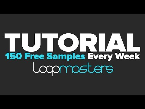 Tutorial: How to Get 150 Free Samples from Loopmasters EVERY WEEK!