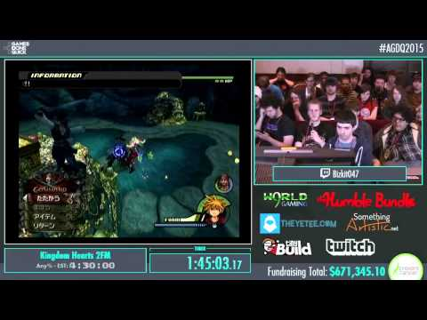 Awesome Games Done Quick 2015 - Part 157 - Kingdom Hearts 2 by Various Runners