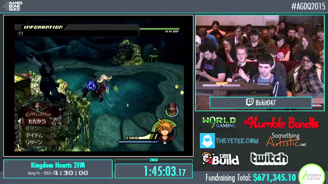 Awesome Games Done Quick 2015 Part 157 Kingdom Hearts
