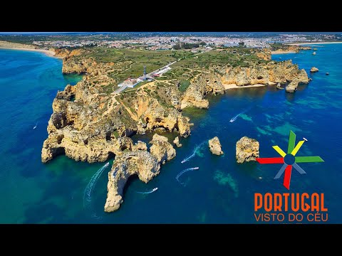 Ponta da Piedade Praia do Camilo Dona Ana & Meia praia aerial - Lagos - Algarve - 4K Ultra