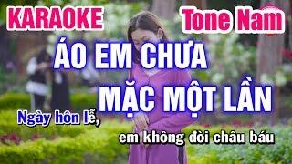 Karaoke Áo Em Chưa Mặc Một Lần Tone Nam Nhạc Sống | Mai Thảo Organ