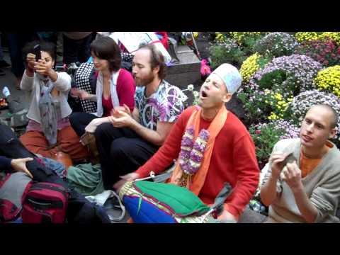 OCCUPY WALL STREET: Hare Krishna! pt. 1 • Zuccotti Park NYC • 10/15/11