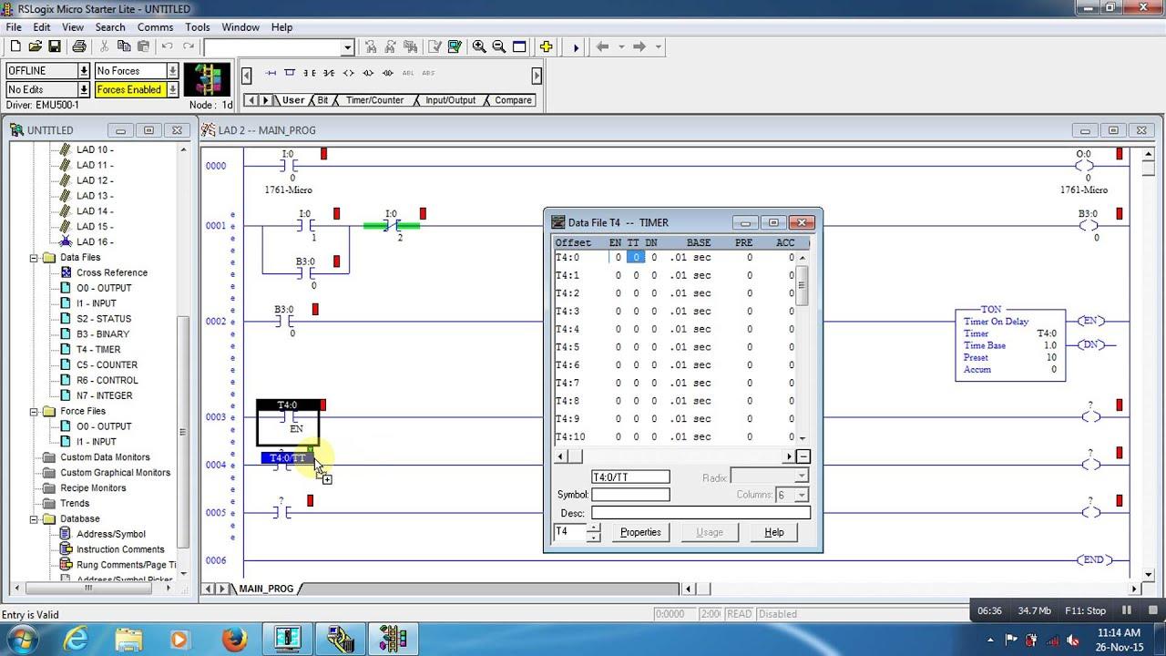 micrologix 1000 allen bradley plc programming - YouTube