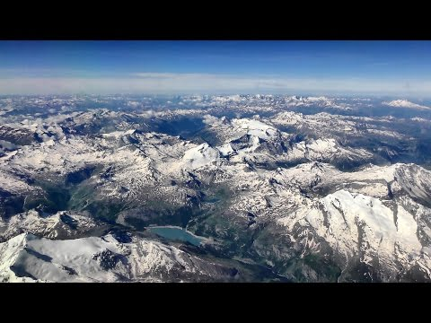 Views of the Italian Alps and Turin. London Stansted - Turin. Flight  FR464 Ryanair. Boeing 737-800