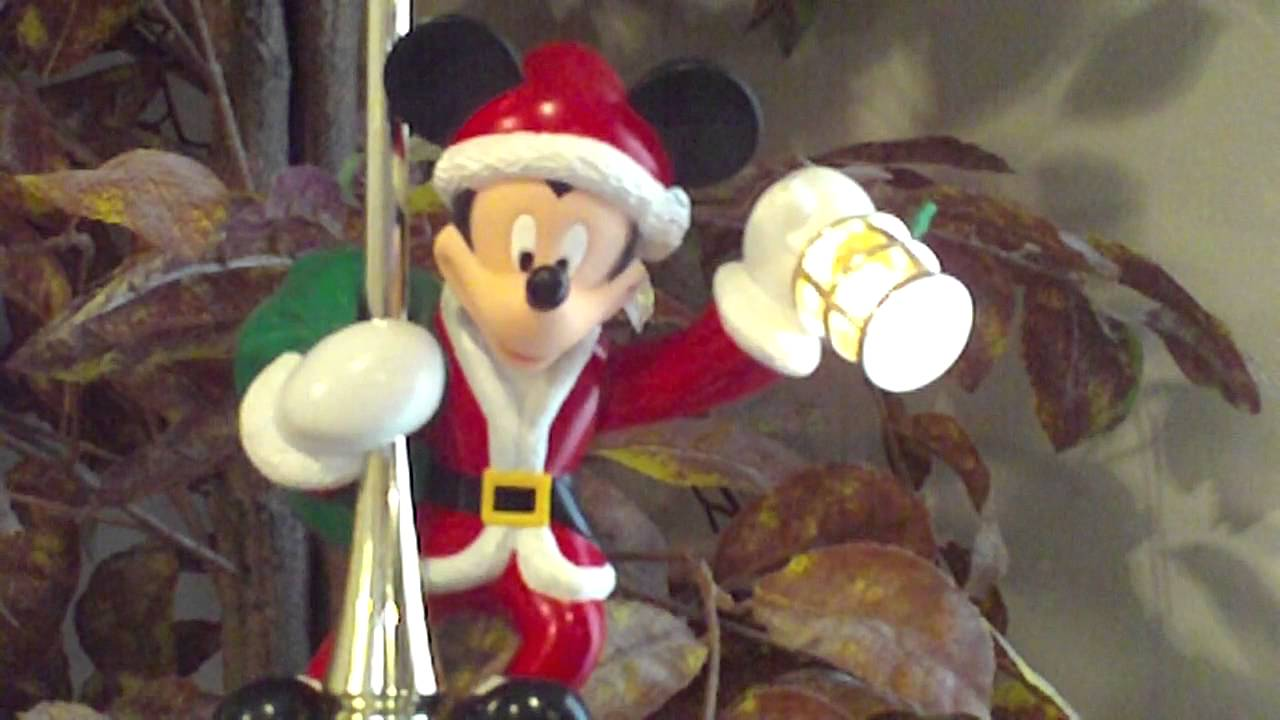 Disney Mickey Mouse Lighted Animated Tree Topper