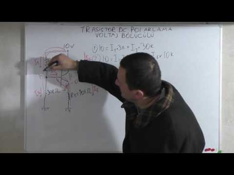 Bjt Transistör Dc Polarizasyon-Voltaj Bölücülü