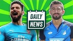 Giroud zum BVB!  Hollerbach übernimmt den HSV und Demirbay flirtet mit Schalke! - Daily News