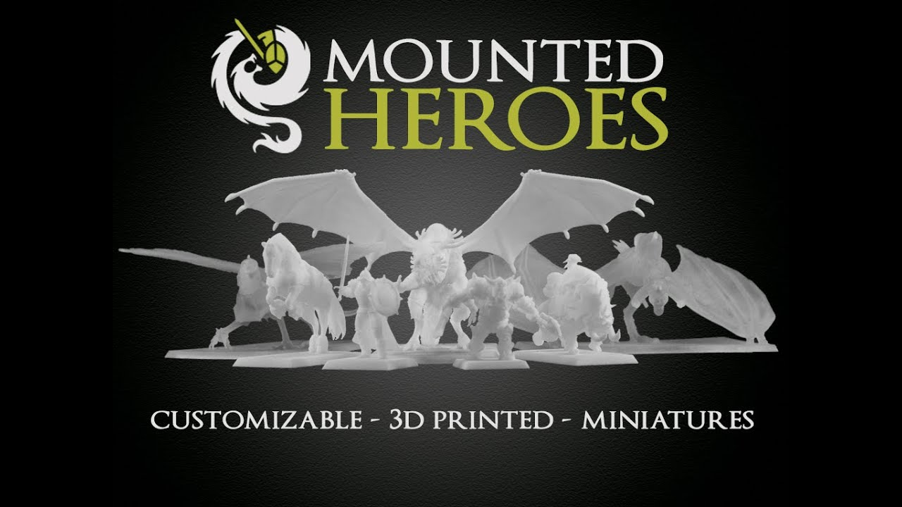 Mounted Heroes 3D Printed Customizable Miniatures Ride Again